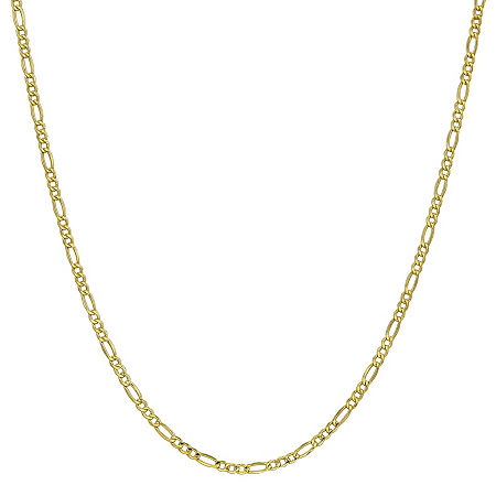 10K Gold 16 Inch Semisolid Figaro Chain Necklace, One Size , No Color Family