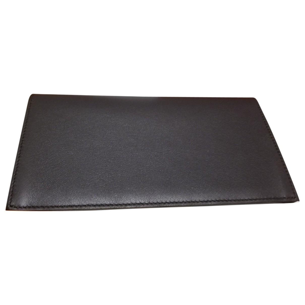Hermès \N Blue Leather Small bag, wallet & cases for Men \N