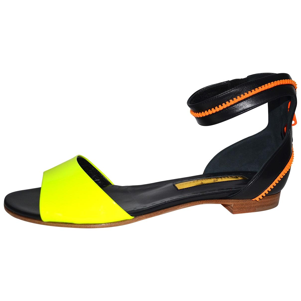 Rupert Sanderson - Sandales   pour femme en cuir - multicolore