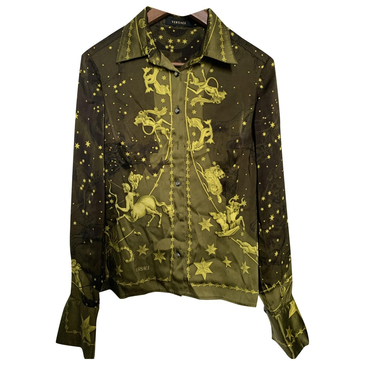 Versace \N Khaki Silk  top for Women 44 FR