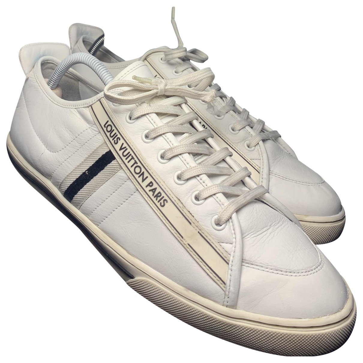 Louis Vuitton Match Up White Leather Trainers for Men 44 EU