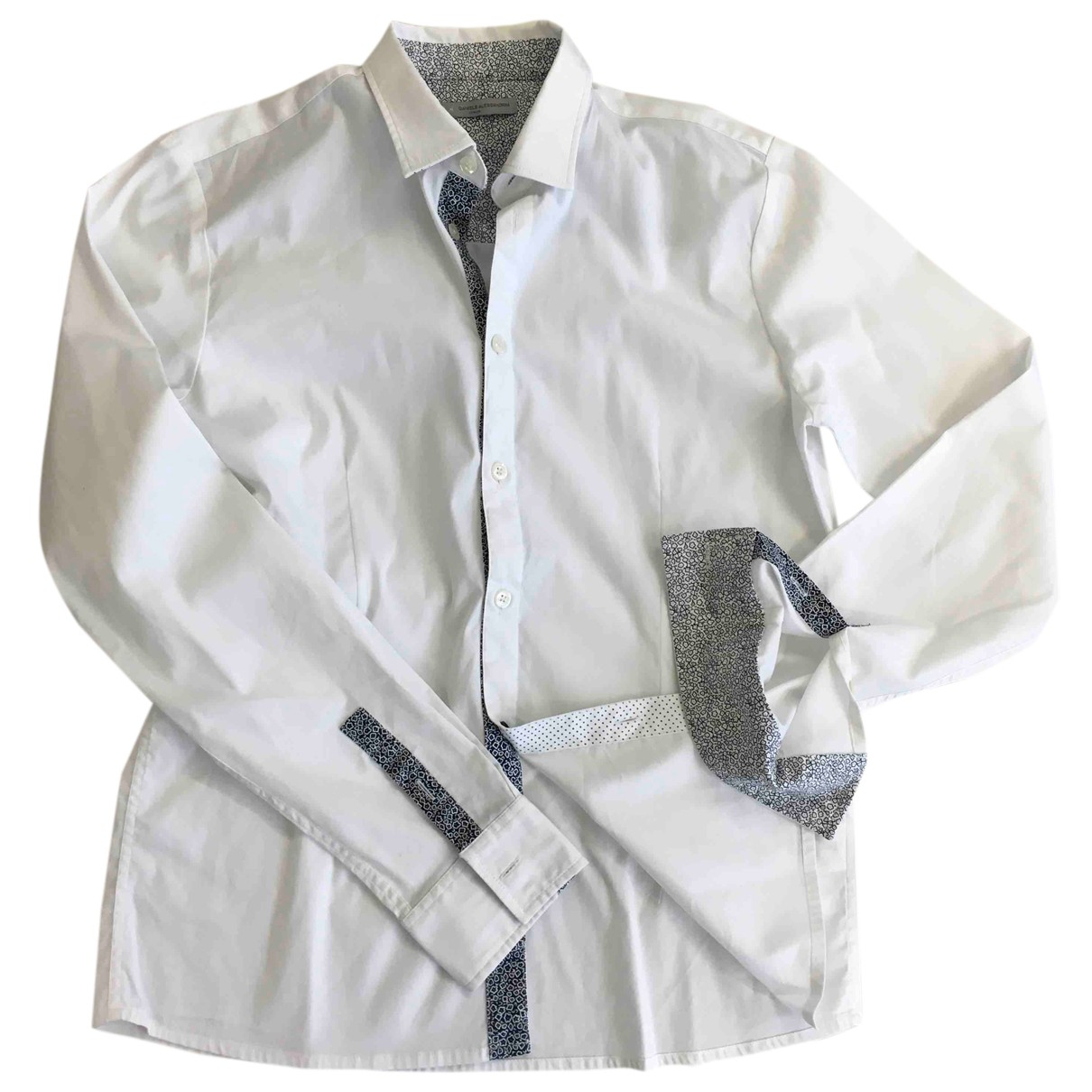 Daniele Alessandrini N White Cotton  top for Kids 16 years - M FR
