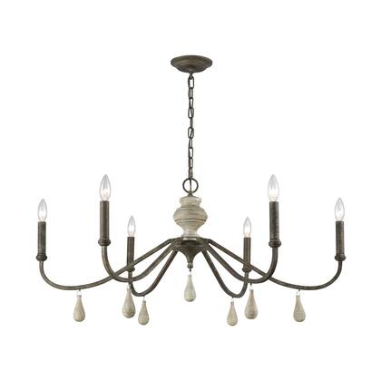 D3871 French Connection Chandelier  In Malted Rust  Gray