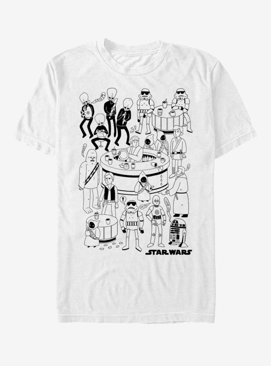 Star Wars Cantina Doodle T-Shirt