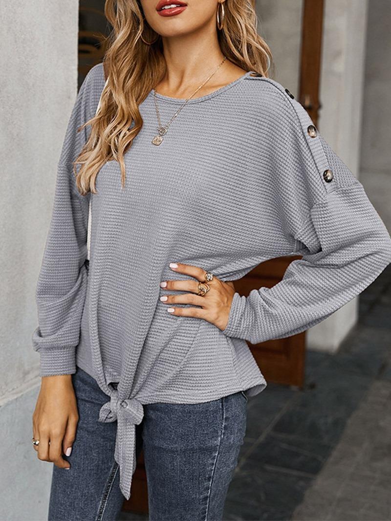 Ericdress Regular Button Fall Loose Sweater