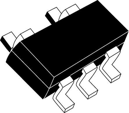 DiodesZetex TLV271IW5-7 , CMOS, Op Amp, RRO, 1.9MHz 10 kHz, 2.7 → 16 V, 5-Pin SOT-25 (50)