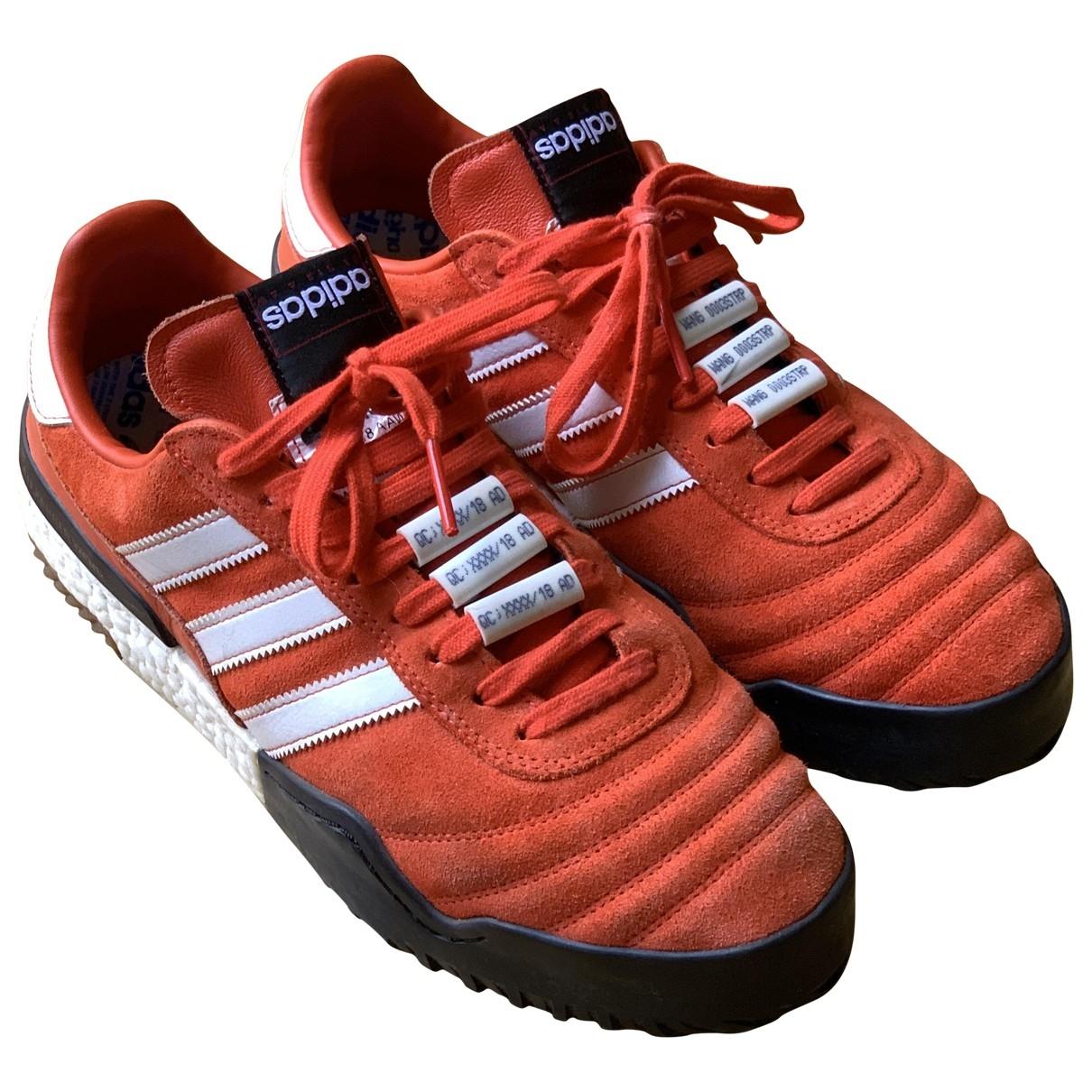 Adidas Originals X Alexander Wang - Baskets   pour homme en cuir - orange