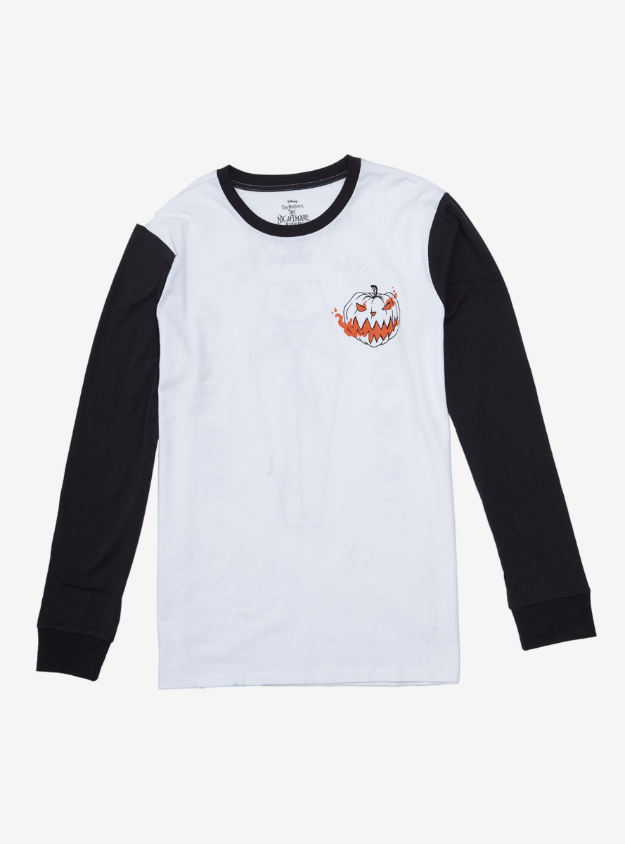 Disney The Nightmare Before Christmas Pumpkin Colorblock Long Sleeve T-Shirt - BoxLunch Exclusive