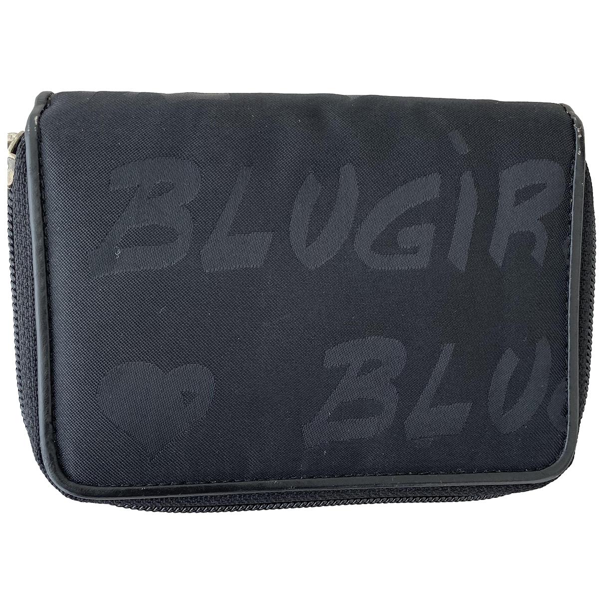 Blumarine - Portefeuille   pour femme en toile - noir