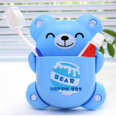 Adorable Smile Bear Design  Bathroom Toothbrush Holder