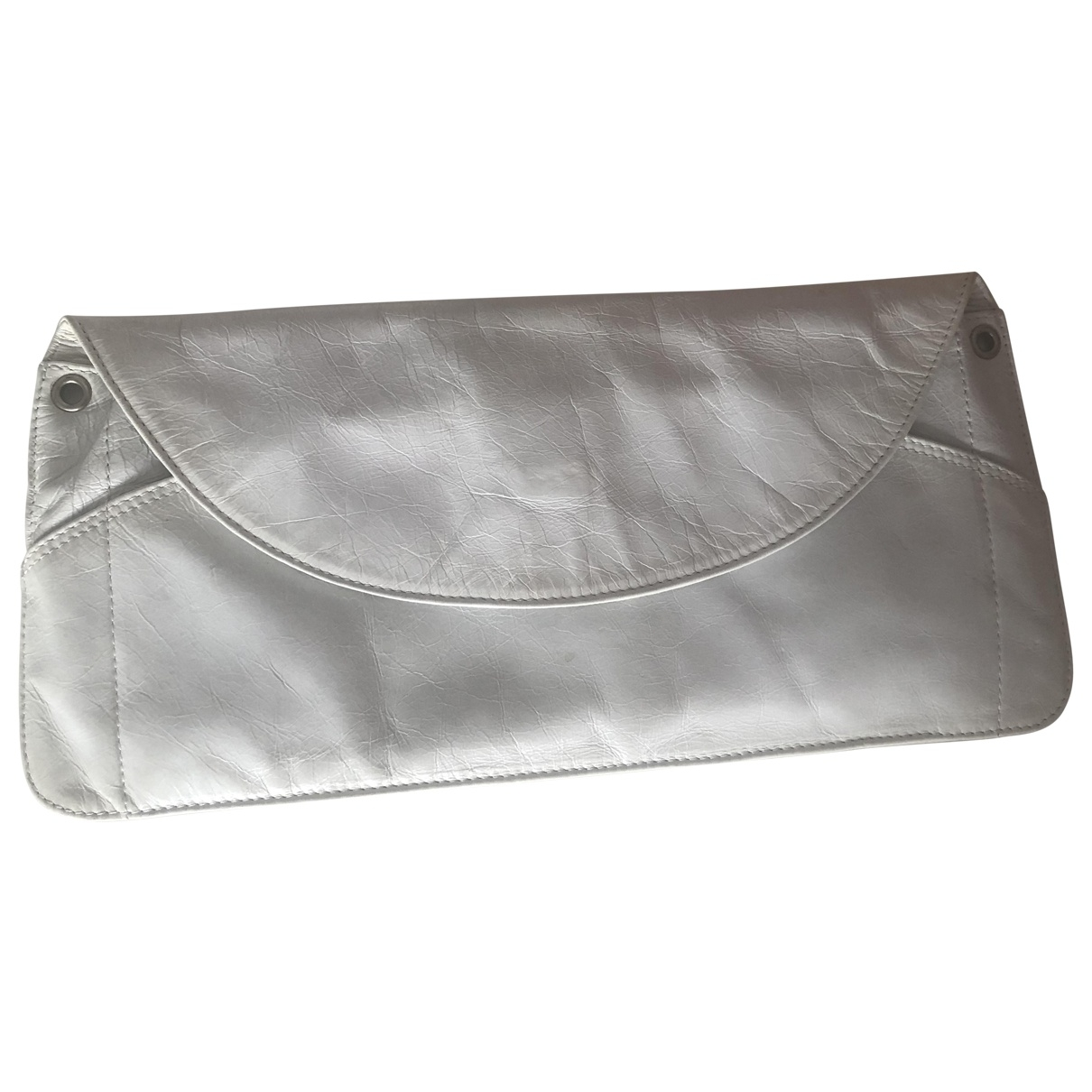 Non Signe / Unsigned \N Clutch in  Weiss Leder