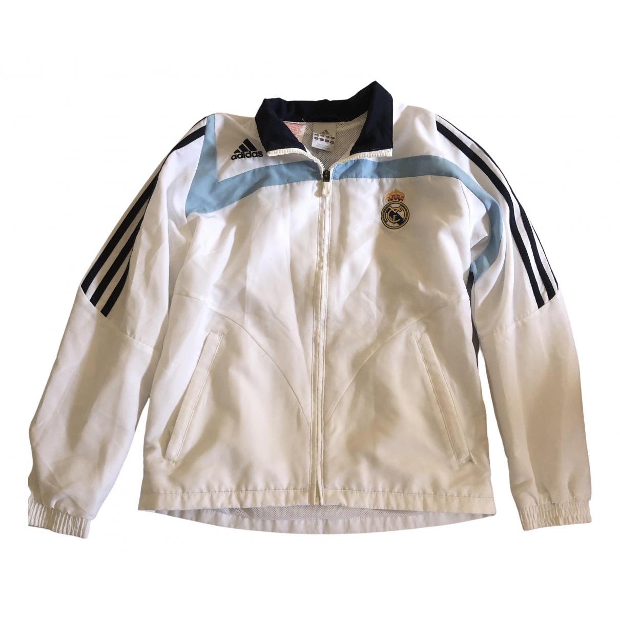Adidas \N Jacke, Maentel in  Weiss Polyester