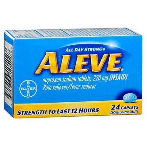 Aleve All Day Strong Pain Reliever And Fever Reducer 24 Caplets by Aleve
