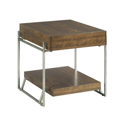 Palermo Collection 870-915 RECTANGULAR DRAWER END TABLE in Warm