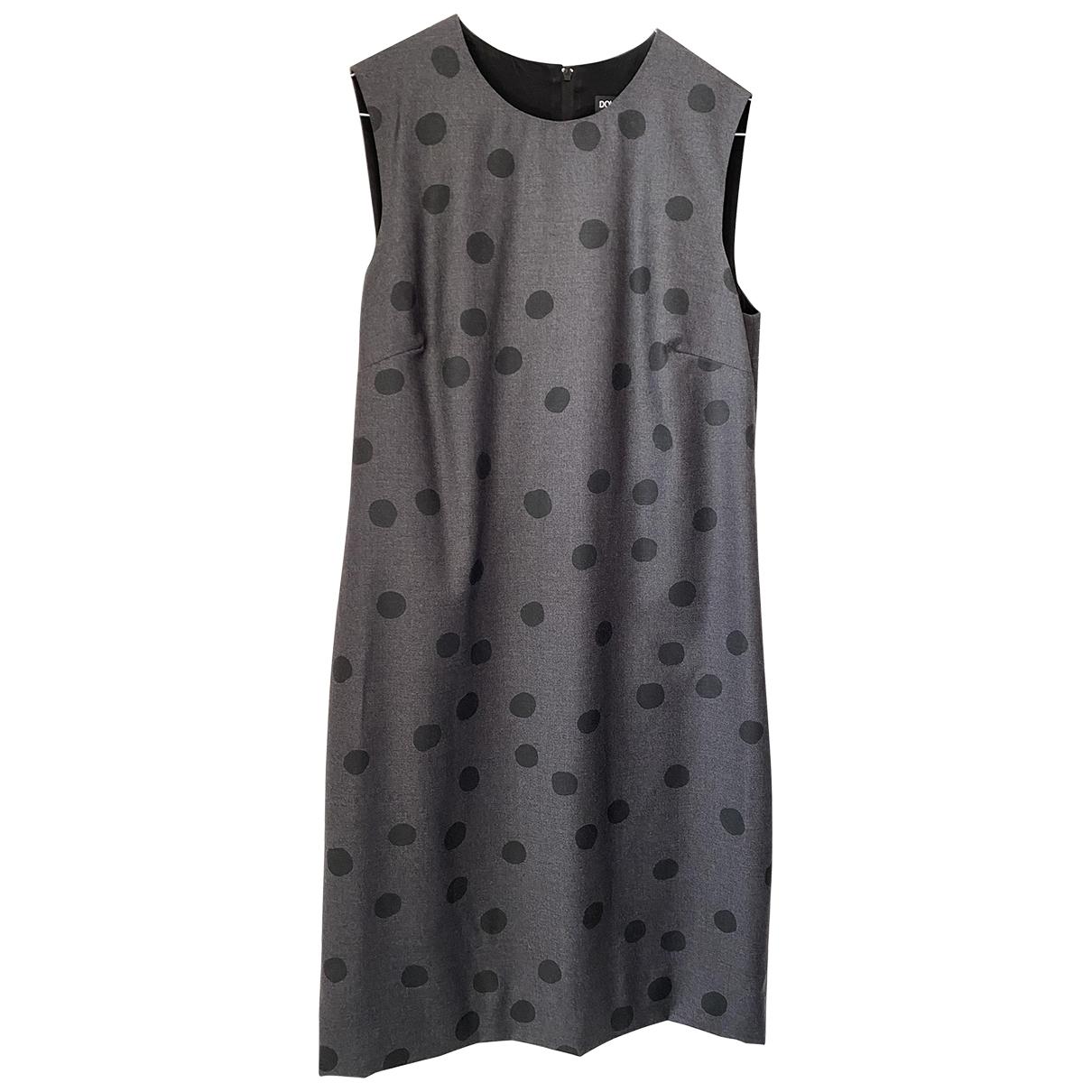 Dolce & Gabbana - Robe   pour femme en laine - gris