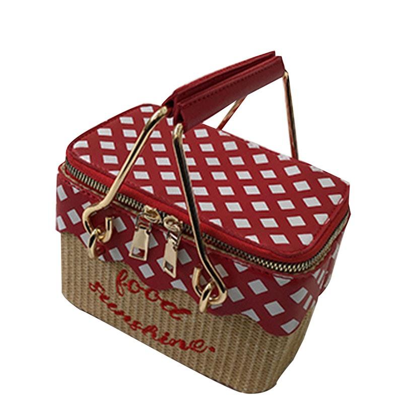 Ericdress Knitted Print Plaid Trunk Handbags