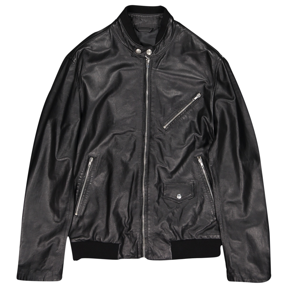 Moschino \N Jacke in  Schwarz Leder