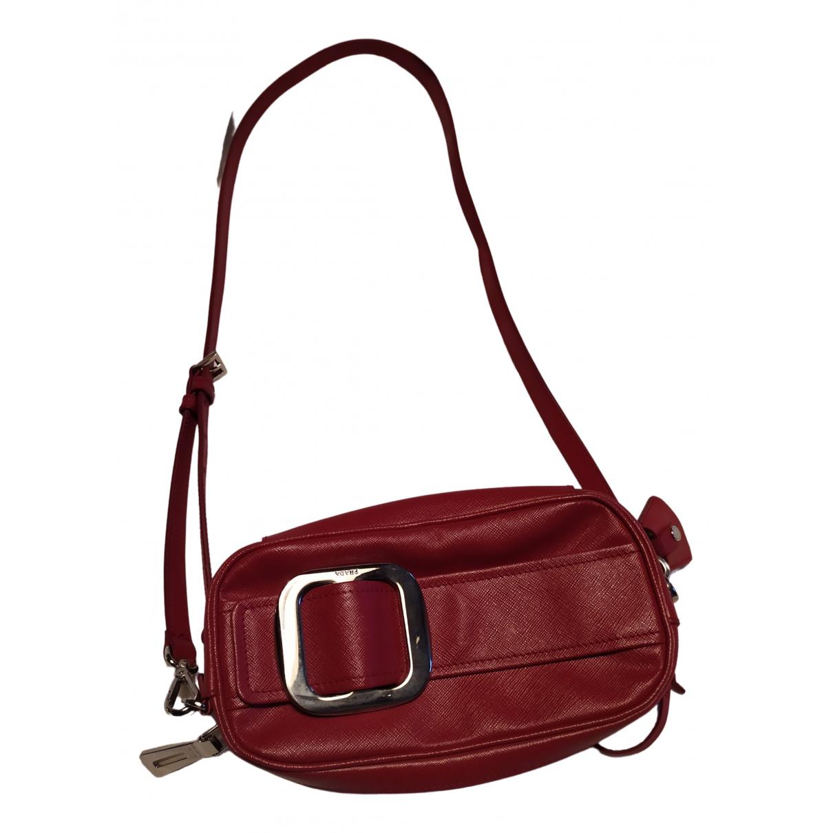 Prada N Red Leather Clutch bag for Women N