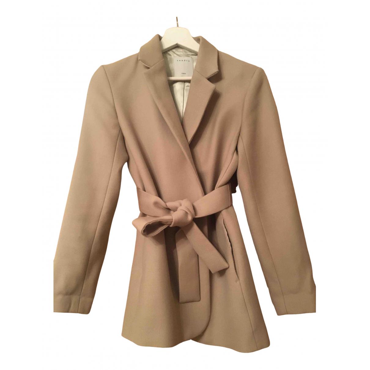 Sandro N Beige Wool jacket for Women XS International