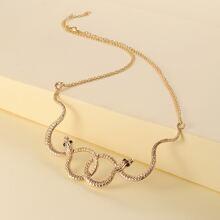 Serpentine Design Necklace