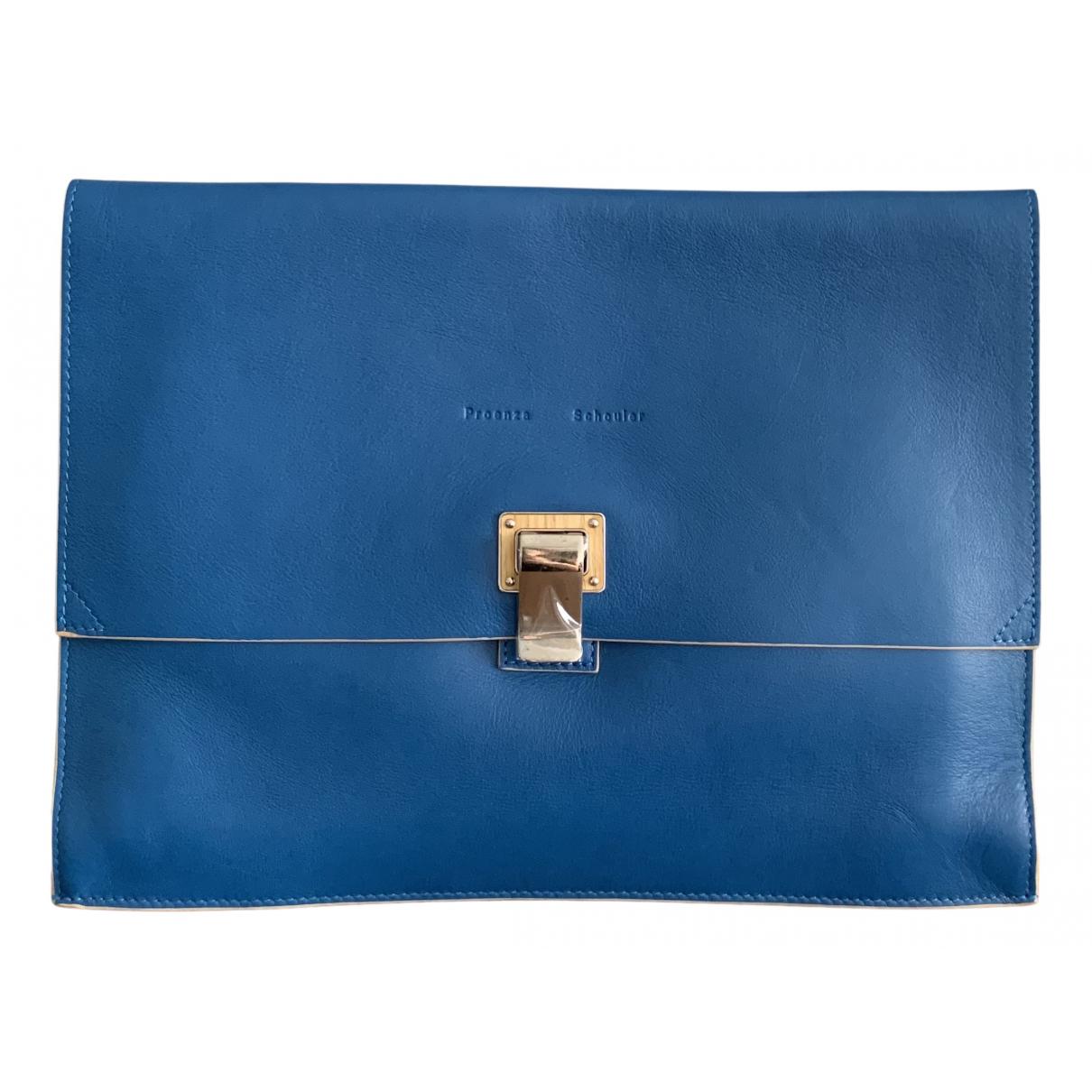 Proenza Schouler - Pochette Lunch pour femme en cuir - bleu