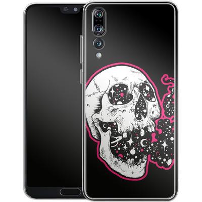 Huawei P20 Pro Silikon Handyhuelle - Space Skull Black von Kreatyves