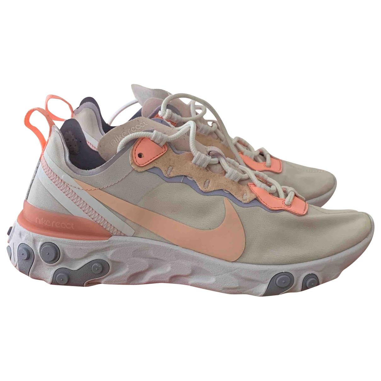 Nike React element 55 Sneakers in  Weiss Leinen