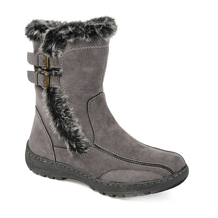 Journee Collection Womens Takani Winter Boots, 7 1/2 Medium, Gray