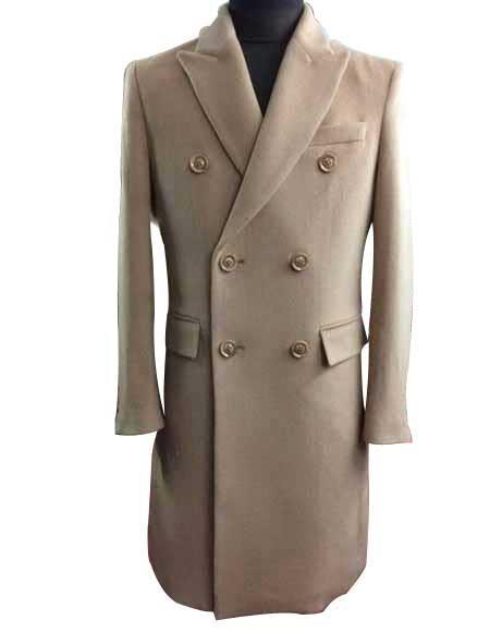 Alberto Nardoni  ~ Overcoat ~ Wool t Duster Style Beige