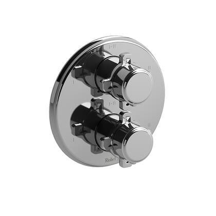 Momenti TMMRD46XC 4-Way Thermostatic/Pressure Balance Coaxial Valve Trim with x Cross Handles  in