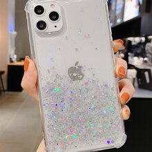 Glitter Sequin Clear iPhone Case
