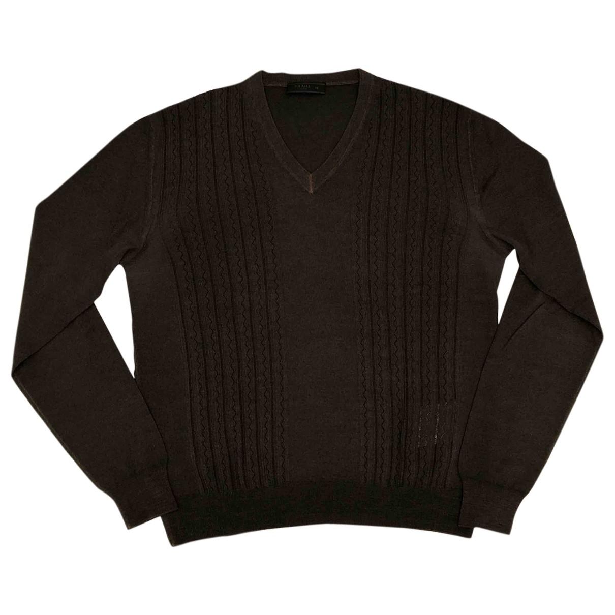 Prada \N Brown Wool Knitwear & Sweatshirts for Men 48 IT