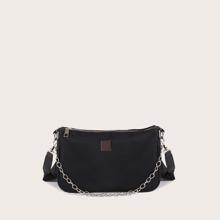 Bolso de hombro con cadena minimalista