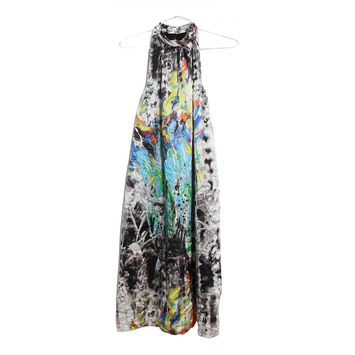 Max Mara - Robe   pour femme en soie - multicolore