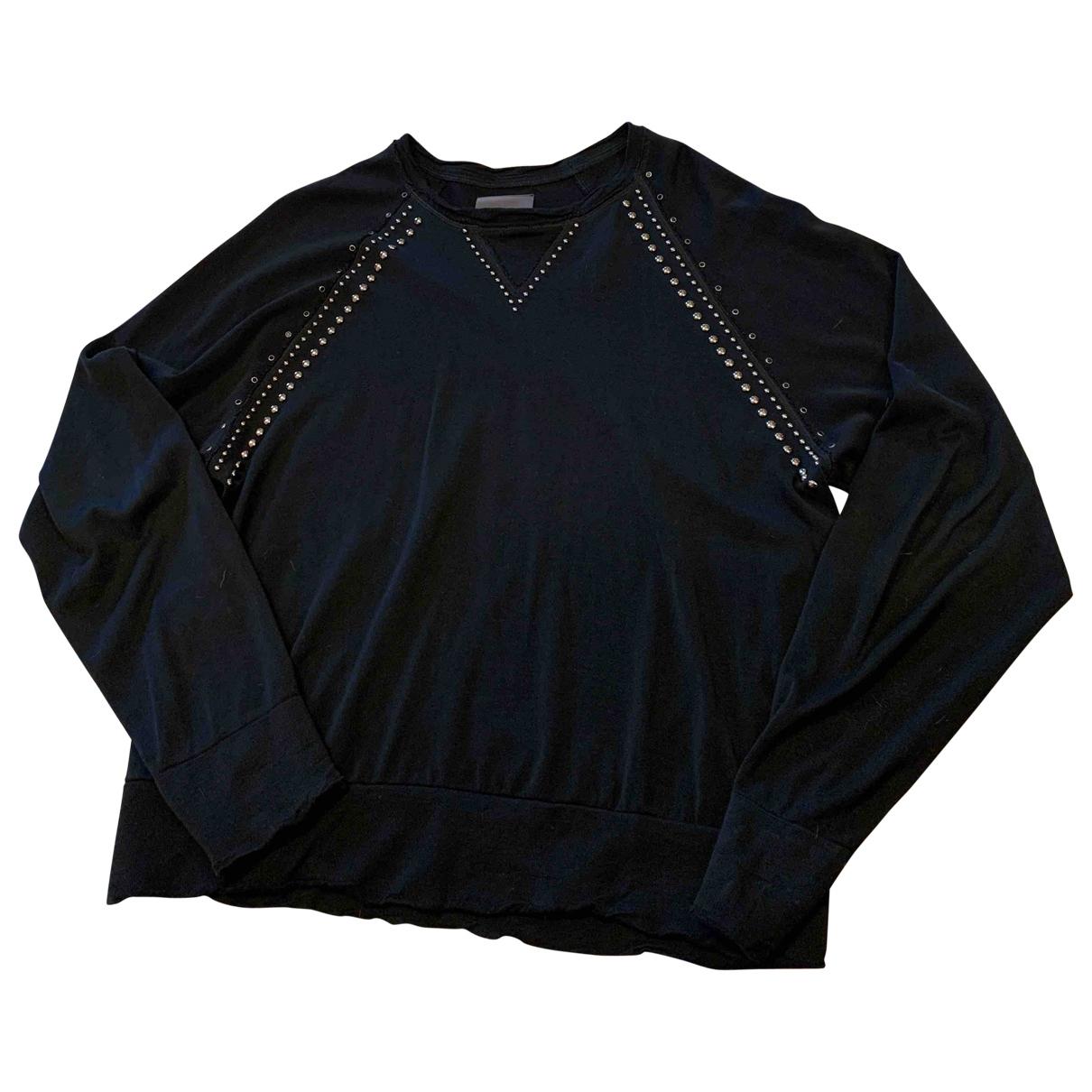 Laneus \N Pullover.Westen.Sweatshirts  in  Schwarz Baumwolle