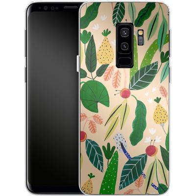 Samsung Galaxy S9 Plus Silikon Handyhuelle - Tropical Greens von Iisa Monttinen