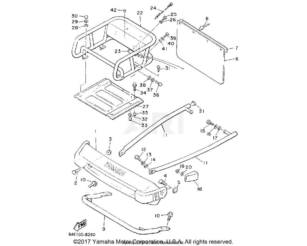 Yamaha OEM 8Y1-77541-00-00 BUMPER, REAR 1