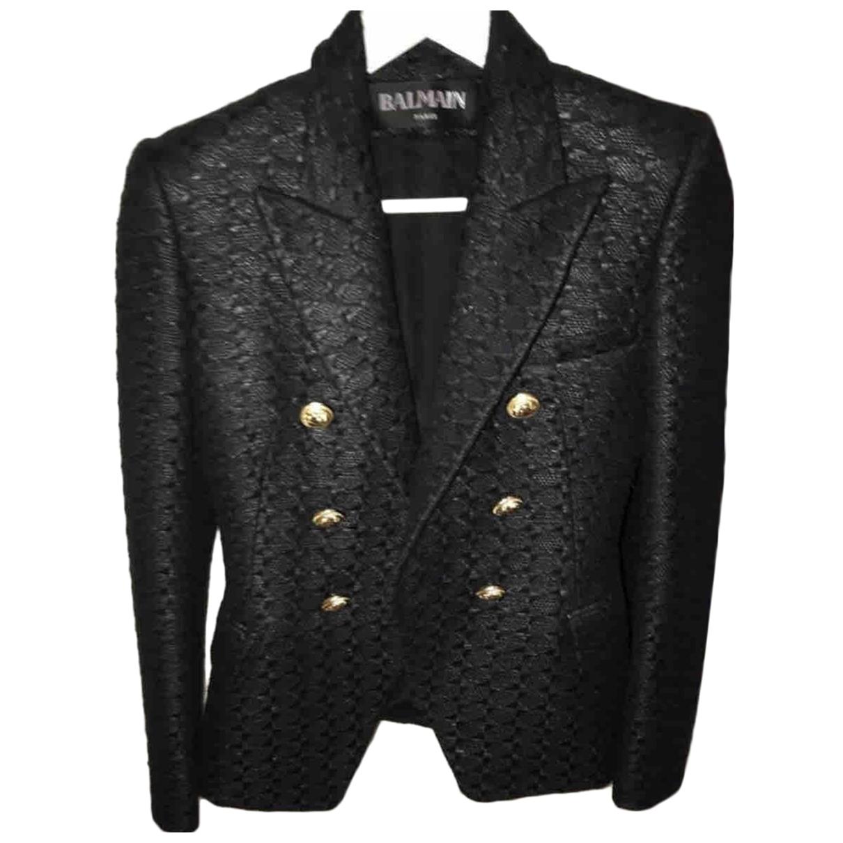 Balmain \N Black Cotton jacket for Women 36 FR