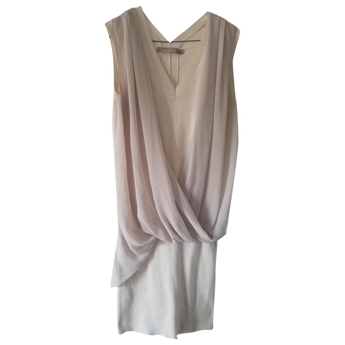 All Saints \N Kleid in  Beige Baumwolle - Elasthan