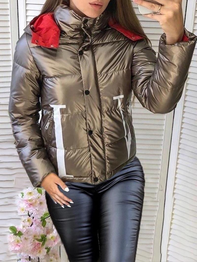 Ericdress Zipper Standard Straight Thick Standard Women's Cotton Padded Jacket