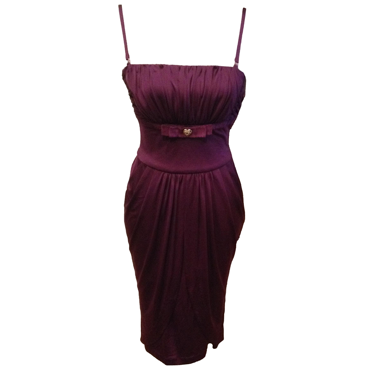 Roberto Cavalli \N Kleid in  Lila Polyester