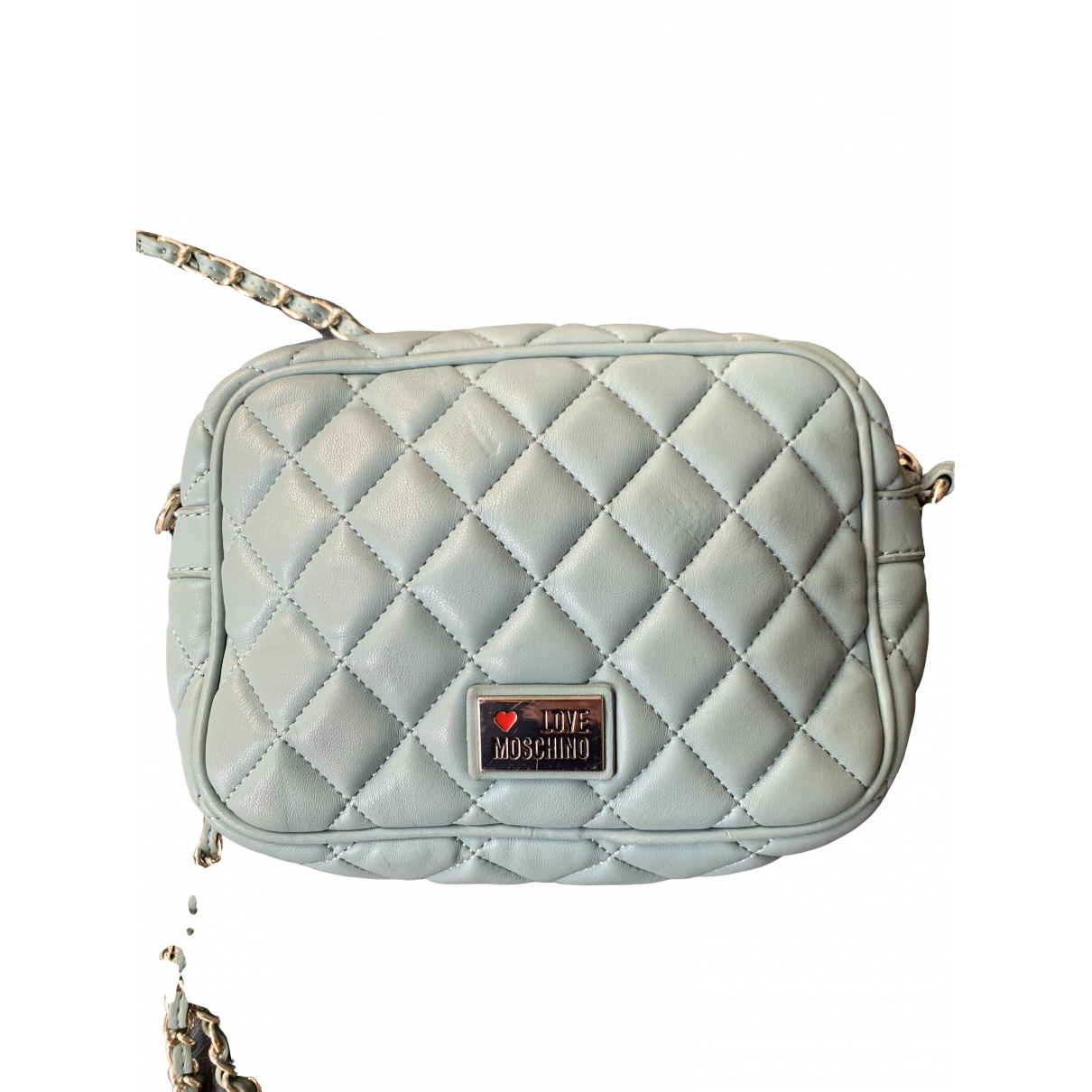 Moschino Love \N Green Patent leather handbag for Women \N