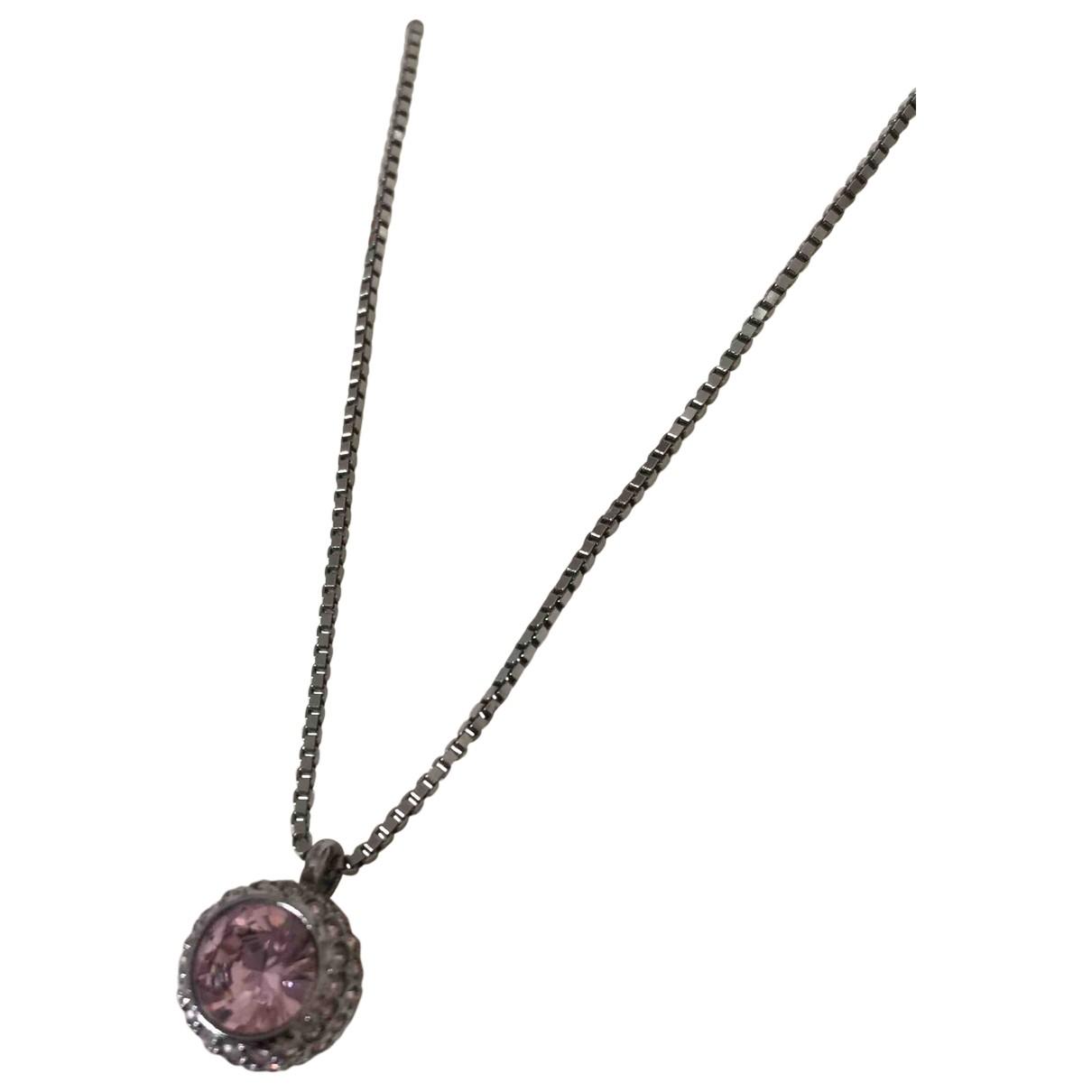 Swarovski \N Kette in  Rosa Metall
