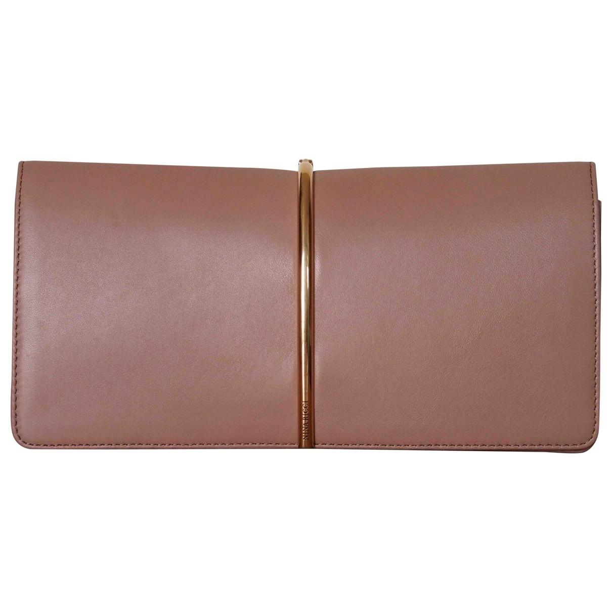 Nina Ricci - Pochette   pour femme en cuir - rose
