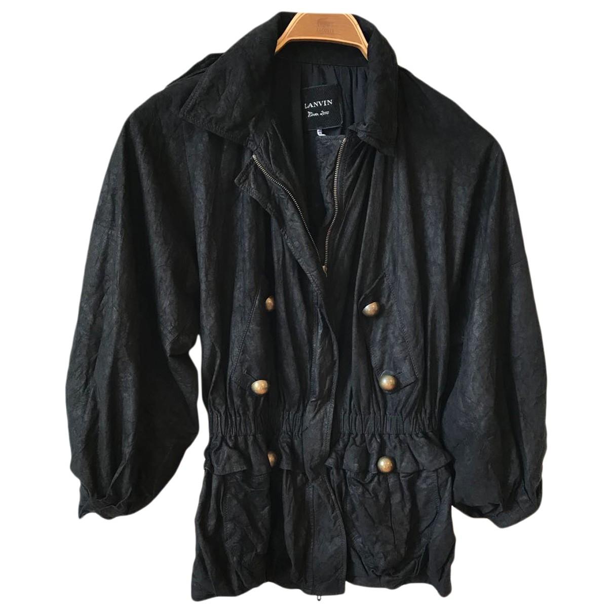 Lanvin \N Black Suede jacket for Women 38 FR