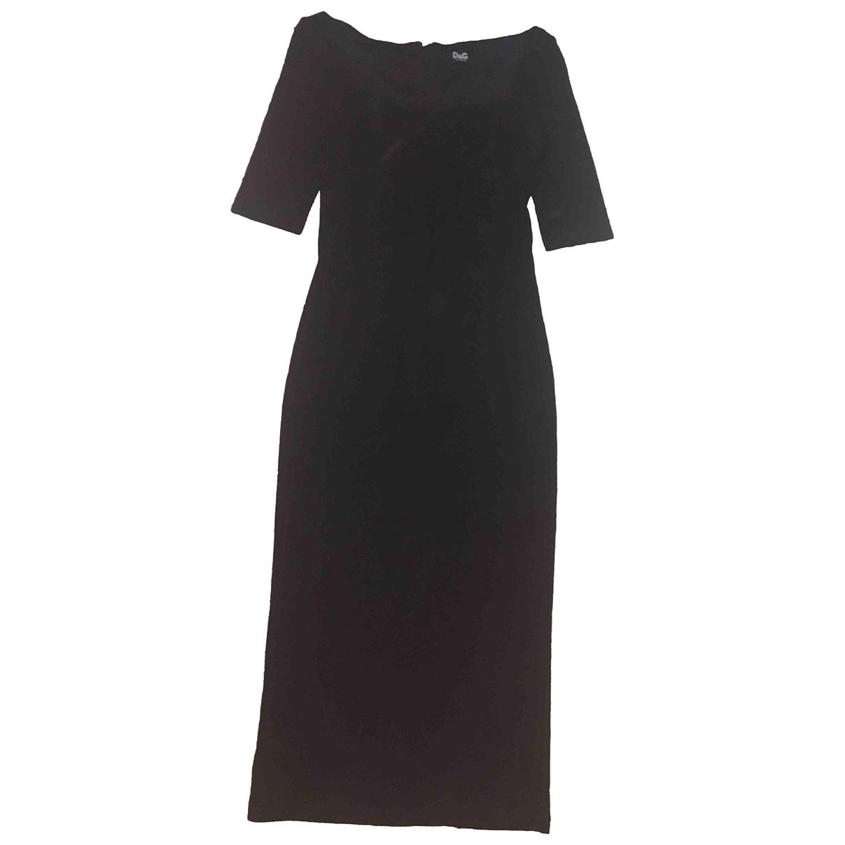 D&g \N Black Wool dress for Women 40 IT