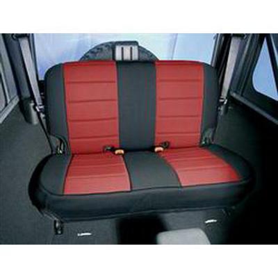 Rugged Ridge Custom Fit Neoprene Rear Seat Cover (Black/Red) - 13262.53