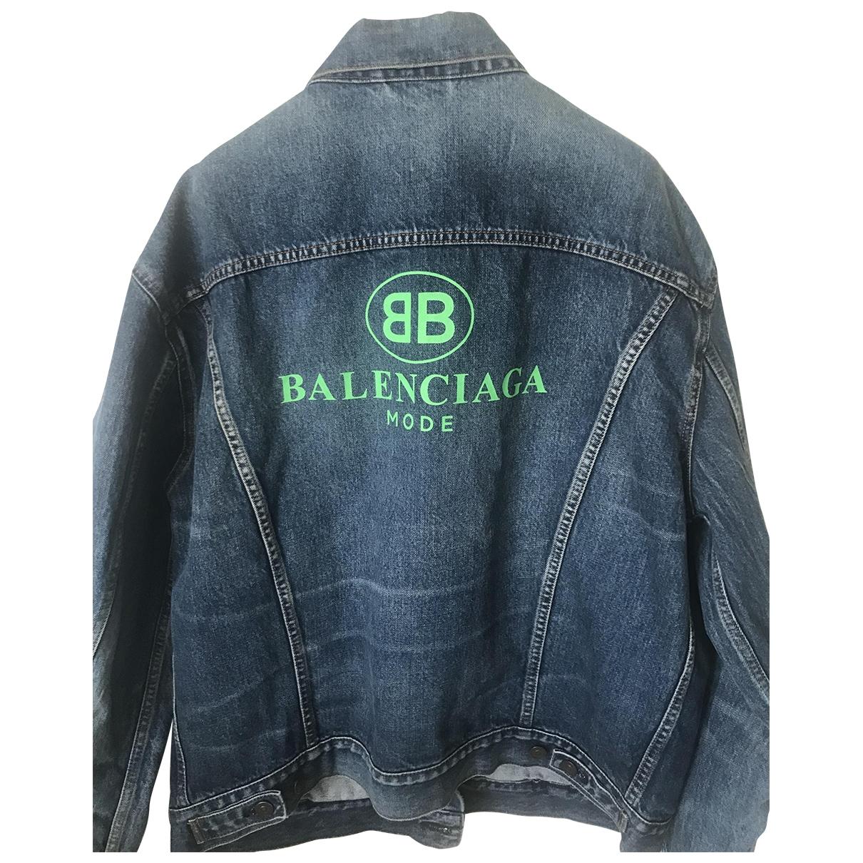 Balenciaga \N Blue Denim - Jeans jacket for Women 36 FR