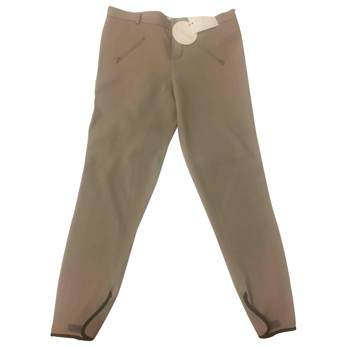 Chloé \N Grey Cotton Trousers for Women 40 FR