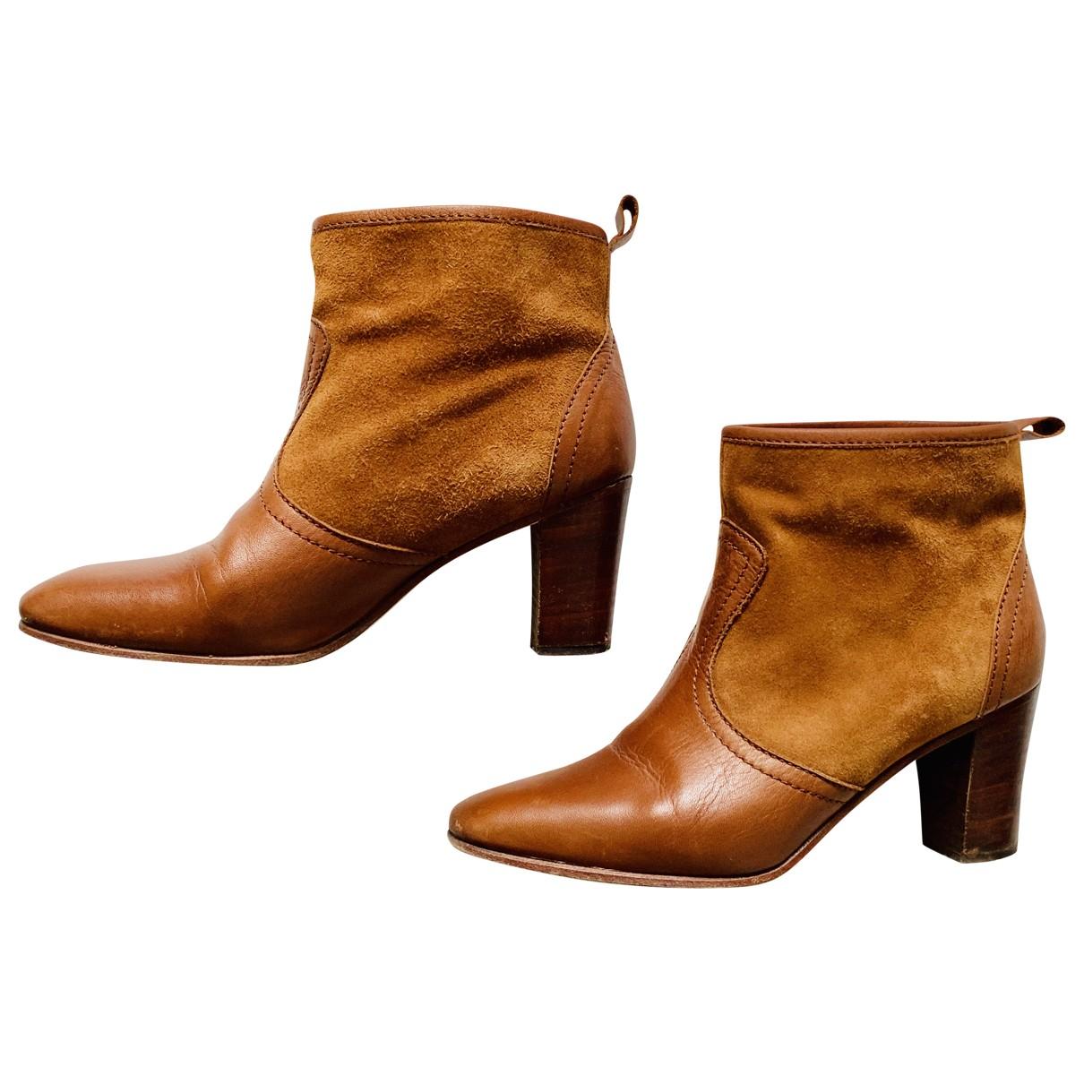 Polder - Boots   pour femme en cuir - camel
